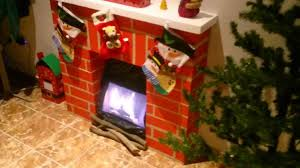 homemade fake paper fireplace christmas fireplace cardboard boxes