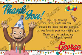 personalized curious george invitations putput