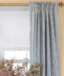 Hanging Rod Pocket Curtains With Rings Ticking Stripes Rod Pocket Curtains Country Curtains Home