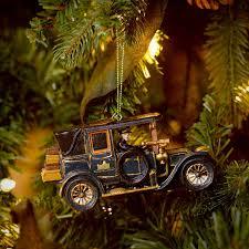 Large Christmas Decorations Amazon by Amazon Com Kurt Adler Downton Abbey Car Christmas Ornament Home