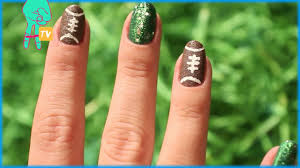 pretty football nail art nail pop ep 13 youtube