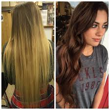 blonde to brunette hair before and after blonde to brunette hair braneebear pinterest