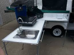 Outdoor Camping Sink Station by Diy Outdoor Galley Much Smaller And Lighter Than The Cabela U0027s