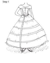 how to make a 1860s petticoat step 1 measure from the waist to