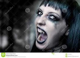 vampire woman portrait halloween concept stock photo image