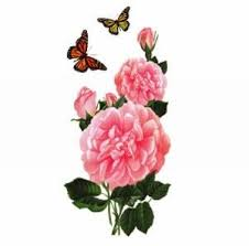 roses and butterfly design