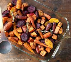 Glazed Root Vegetables Recipe - maple balsamic roasted winter vegetables