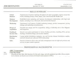Skills Section Of Resume Example by What To Write In The Skills Section Of A Resume Free Resume