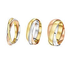 gold fine rings images Wedding band multi tone gold fine rings without stones ebay jpg