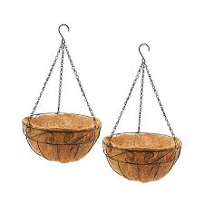 hanging planter basket set of 2 hanging planter basket with coco liner 8307133 hsn