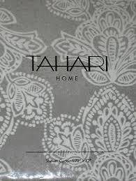 tahari silver gray white paisley cotton shower curtain new fleur