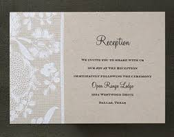 Wedding Reception Cards What Is A Reception Card Weddings For A Living