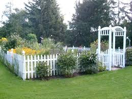 Idea Garden Plastic White Picket Fence Garden Edging Garden Fencing Idea