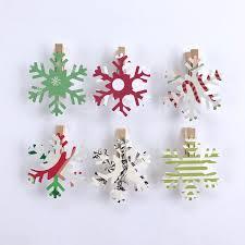 snowflake clothespins decoration snowflake cutouts