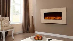 celsi electriflame travertine wall mounted electric fire youtube