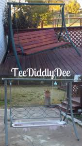recycle old patio swing chair into new wooden one teediddlydee