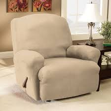 Slipcovers For Reclining Loveseat Sure Fit Stretch Pique Large Recliner Slipcover Hayneedle