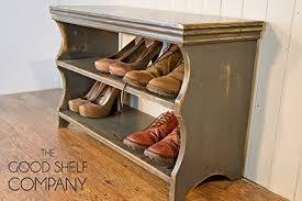 amazon shoe storage cabinet shoe storage cabinet rack bench stool vintage grey amazon co