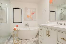 Small Bathtubs For Small Bathrooms Little Luxury 30 Bathrooms That Delight With A Side Table For The