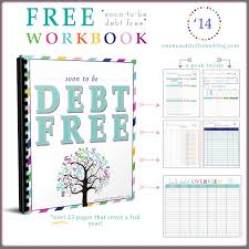 Debt Spreadsheet Paying Off Debt Free Workbook