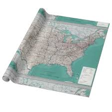 map wrapping paper roll united states usa road map decorative roll wrapping paper zazzle