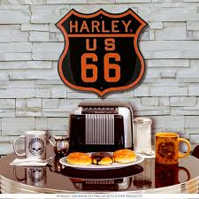 Harley Home Decor Harley Davidson Route 66 Highway Sign Motorcycle Metal Signs