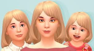 childs hairstyles sims 4 nicey nice bob v2 tamo