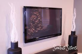 how to hide wires for wall mounted tv how to mount a flat screen tv and hide cords inside the wall