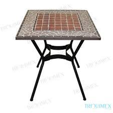Garden Bistro Table Square Iron And Mosaic Garden Bistro Table