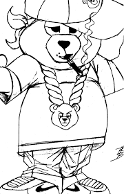 gangsta coloring pages gangsta bear lonnie r burnett pinterest