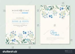 wedding invitation card suite flower templates stock vector