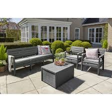 6 seater patio furniture set rattan effect 6 seat patio sofa set with cushions centerfieldbar com