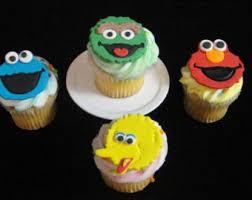 sesame cake toppers sesame cupcake toppers sesame party decoration