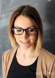 bob hairstyles for glasses chic short ombre bob hairstyle with glasses hairstyle magazine