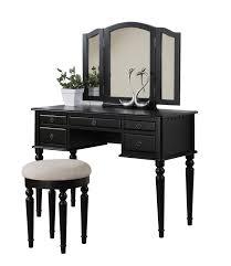 makeup vanity long black wooden make up vanity with glass top