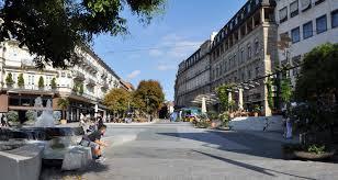 Caracalla Therme Baden Baden Baden Baden Leopoldsplatz Mit Blickrichtung Sofienstraße