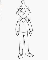 coloring pages of elf elf on the shelf coloring page for elfie and the kids to colour in