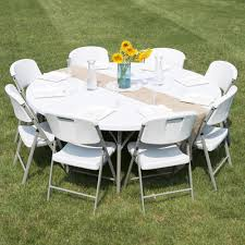 White Outdoor Furniture Folding Table 72