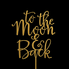 to the moon and back wedding cake topper keepsake wedding cake