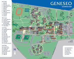 Letchworth State Park Map by Campus Map Suny Geneseo
