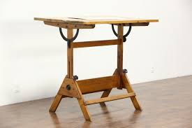 Antique Wood Drafting Table Furniture Stacor Drafting Table Vintage Drafting Desk Antique