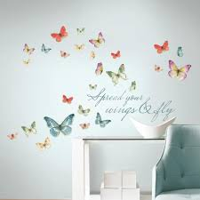 wall decals wall decor the home depot 5 in x 11 5 in lisa audit butterfly quote 28 piece peel and