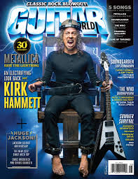 kirk hammett on cover guitar world august 2014 rock