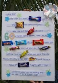 birthday ideas for a 60 year woman age the hill 60th birthday card poster using candy bars