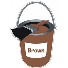 brown paint colour paint pot brown sign school signs nursery signs