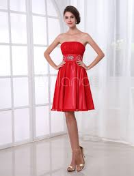 knee length red cocktail dress fashion dresses