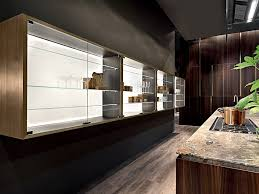 oak kitchen wall cabinet with glass doors wall cabinet with glass door multi material by rossana
