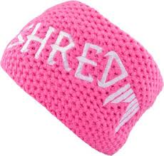 pink headband shred heavy knitted headband