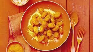 cuisiner patate douce poele recette gnocchi de patate douce à la menthe et sauce au safran