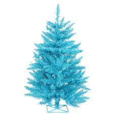 tree with blue lights lights decoration
